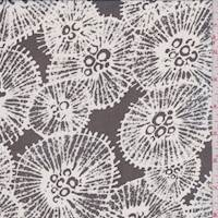 *4 7/8 YD PC--Black/White Puff Silk Chiffon