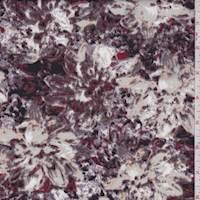 Mauve Mottled Floral Scuba Knit