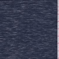 Heather Navy Slubbed Jersey Knit