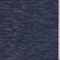 Heather Navy Slubbed Jersey Knit