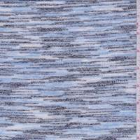 Powder Blue/Black/White Slubbed Sweater Knit
