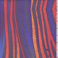 Orange/Cobalt Deco Stripe Swimwear