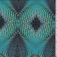 Turquoise/Lime Prismatic Diamond Swimwear