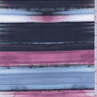 Slate Blue/Berry Brushstroke Stripe Swimwear