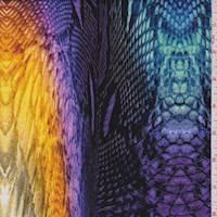 Rainbow Snakeskin Swimwear
