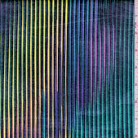 Black Rainbow Stripe Coated Swimwear