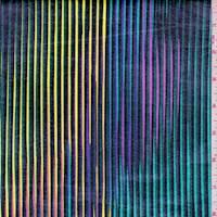Black Rainbow Stripe Coated Swimwear