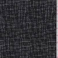 Black Cross Hatch Double Knit