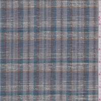 *4 YD PC--Dove Grey Multi Plaid Linen Blend