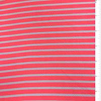 Neon Pink Stripe Textured Liverpool Knit