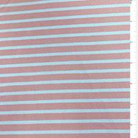 Pink Stripe Textured Liverpool Knit