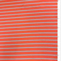 Neon Orange Stripe Textured Liverpool Knit