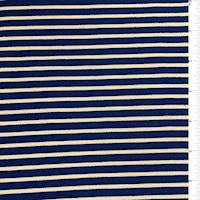 Blue Stripe Textured Liverpool Knit