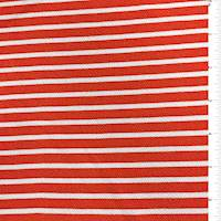 Coral Red Stripe Textured Liverpool Knit