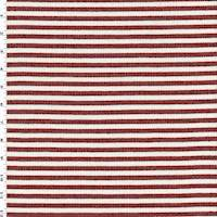 Red/White/Black Stripe Woven Jacketing