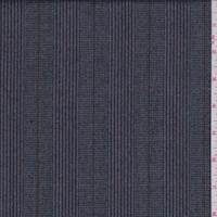 *7/8 YD PC--Soft Blue Multi Stripe Wool Flannel Suiting