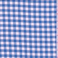 *2 YD PC--Peacock Blue Gingham Check Lawn