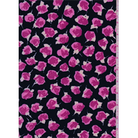 *3/4 YD PC--Black/Pink Rose Activewear