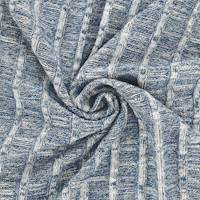 Aegean Blue/White Texture Stripe Rib Knit
