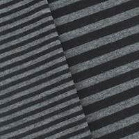 Black/Gray Stripe Double Knit