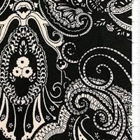 Black Paisley Textured Liverpool Knit