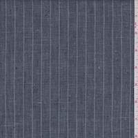 *1 1/4 YD PC--Slate Blue/Grey Pinstripe Linen