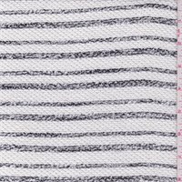 *2 1/2 YD PC--White/Black Mottled Stripe Sweater Knit