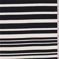 *3 YD PC--Black/Cream Stripe Jersey Knit