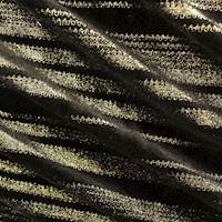 Black/Metallic Gold Horizontal Print Velvet Knit