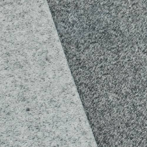 ade91a66dea Gray/White Fleece Back Jersey Knit - 76641 | Fashion Fabrics