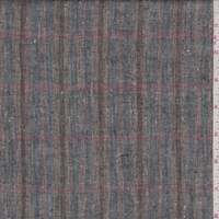 *5 1/8 YD PC--Brown/Blue/Rose Plaid Linen Blend
