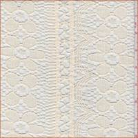 *2 1/2 YD PC--Buttercream Floral Stripe Crochet Lace