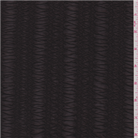 *3 5/8 YD PC--Deep Brown Stripe Stretch Lace