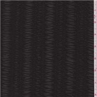 *3 5/8 YD PC--Deep Brown Stripe Stretch Lace