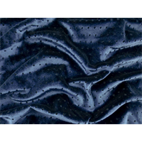 *1 YD PC--Indigo Blue Dot Burnout Stretch Velvet