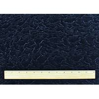 *1 3/4 YD PC--Midnight Navy Blue Embroidered Ruche Velvet Knit