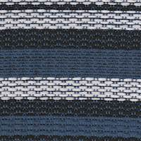*5 YD PC-- Blue/Black/White Striped Suiting