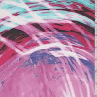 Hot Pink Multi Marble Swirl Chiffon
