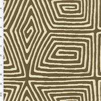 775e2fe4f1d Brown/Ivory Abstract Swirl Double Jacquard Decorating Fabric