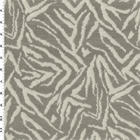 *1/8 YD PC--Gray/Ivory Zebra Chenille Jacquard Home Decorating Fabric