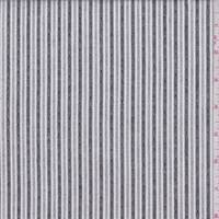 *3 5/8 YD PC--White/Black Dobbie Stripe Shirting