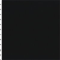 *2 YD PC--Black Wool Blend Gabardine