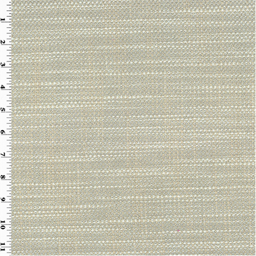 *1/8 YD PC--Designer Ivory Robson Texture Weave Home Decorating Fabric