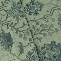 *4 1/2 YD PC--Antique Green/Teal Aztec Matelasse Home Decorating Fabric