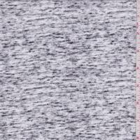 *1 YD PC--White/Black Space Dye Rayon Challis
