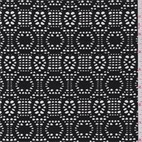 *2 3/8 YD PC--Black Circular Stretch Lace