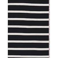 *2 3/8 YD PC--Black/White Stripe Double Knit