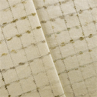 *5 YD PC - Cream Cotton Blend Eyelash Grid Decorating Fabric
