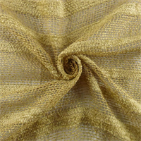 *2 YD PC - Golden Beige Rayon/Linen Boucle/Chenille Stripe Netting