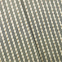 *2 YD PC - Denim/Ivory Cotton Chambray Stripe Home Decorating Fabric